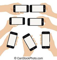 נכסים, ידיים, קבע, חכם, טלפן