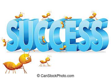 נמלה, לטפס, הצלחה