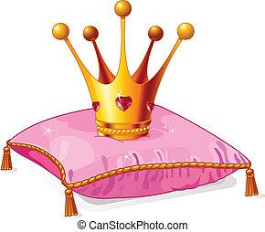 נסיכה, כרית, הכתר, ורוד