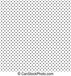 נקודות, שחור, seamless, פולקה, לבן
