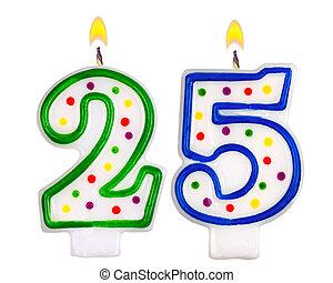 נרות, יום הולדת, חמשה, מספר, עשרים