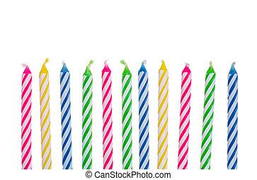 נרות, יום הולדת, צבעוני