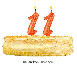 נרות, מספר, הפרד, אחד עשר, עוגה של יום ההולדת