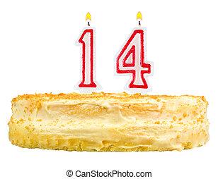 נרות, מספר, הפרד, ארבעה עשר, עוגה של יום ההולדת