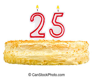 נרות, מספר, הפרד, יום הולדת, חמשה, עשרים, עוגה