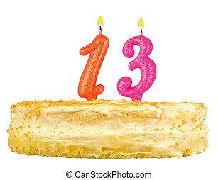 נרות, מספר, הפרד, יום הולדת, שלושה עשר, עוגה