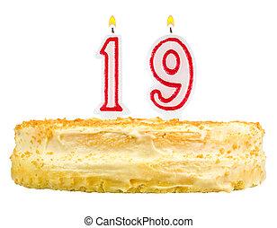 נרות, מספר, הפרד, עוגה של יום ההולדת, nineteen