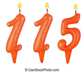 נרות, מספר, חמשה עשר, מאה