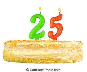 נרות, מספר, יום הולדת, חמשה, עשרים, עוגה