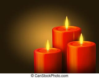 נרות, 3, אדום