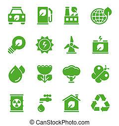 סביבתי, ירוק, איקונים