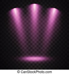 סגול, מנורות ממוקדת, רקע, שקוף