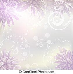 סגול, פסטל, פרחים, רקע צבוע