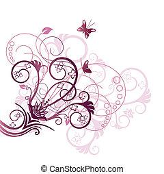 סגול, פרחוני, שלוט, עצב יסוד