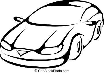 סגנן, מכונית, ציור היתולי