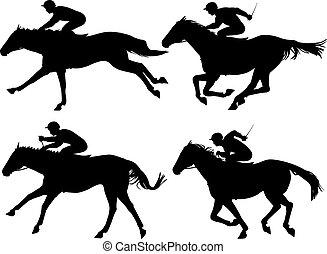 סוסים, לרוץ
