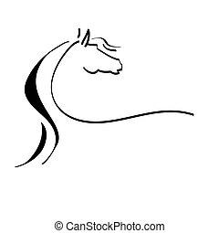 סוס מסוגנן, ציור