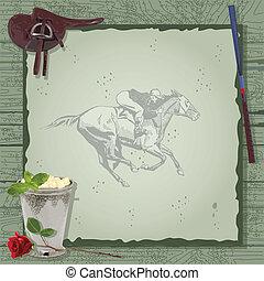 סוס, מפלגה, invitation., לרוץ