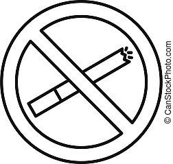סיגנון, אין כל מעשן, תאר, איקון