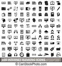 סיגנון, איקונים, קבע, בנקאות, אינטרנט, 100, פשוט
