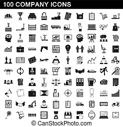 סיגנון, איקונים, קבע, חברה, פשוט, 100