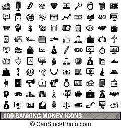 סיגנון, איקונים, קבע, כסף, בנקאות, 100, פשוט