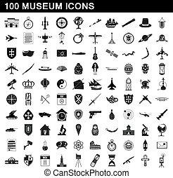 סיגנון, איקונים, קבע, מוזיאון, פשוט, 100