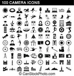 סיגנון, איקונים, קבע, פשוט, מצלמה, 100