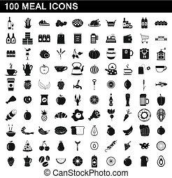 סיגנון, איקונים, קבע, פשוט, 100, ארוחה