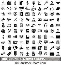 סיגנון, איקונים של עסק, קבע, פשוט, פעילות, 100