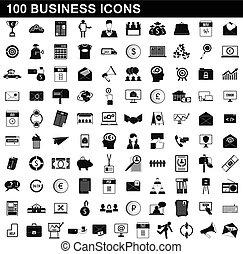 סיגנון, איקונים של עסק, קבע, פשוט, 100