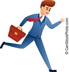 סיגנון, איש עסקים, ציור היתולי, לרוץ, איקון