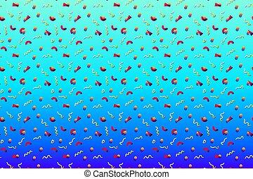 סיגנון, חזק, תקציר, geometics, צבעים, תבנית של רקע, 80s, ממפיס, פסיכאדלי