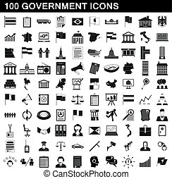 סיגנון, ממשלה, קבע, איקונים, פשוט, 100