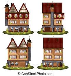 סיגנון, קבע, ישן, houses.