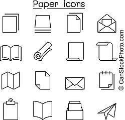 סיגנון, קבע, נייר, קו רזה, איקון