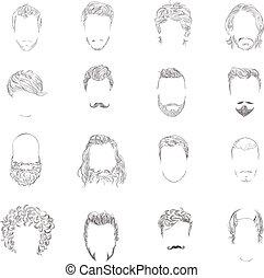 סיגנון של שיער, קבע, איש