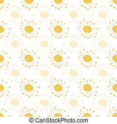 סיגנון, שרבט, seamless, וקטור, חזור על, אור שמש, תבנית, כולל, מתפוצץ, דוגמה