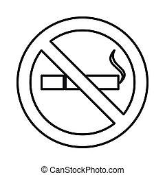 סיגנון, תאר, אין כל, חתום, איקון, לעשן