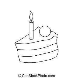 סיגנון, תאר, עוגה, איקון, נר, חתיכה