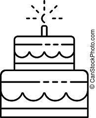 סיגנון, תאר, עוגה, יום הולדת, איקון, חגיגה