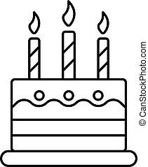 סיגנון, תאר, עוגה, יום הולדת, איקון, צחק