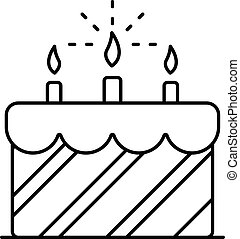 סיגנון, תאר, עוגה, יום הולדת, איקון, קרם