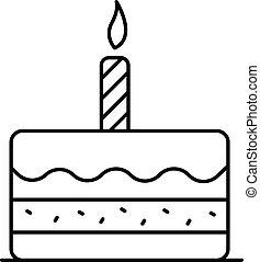 סיגנון, תאר, עוגה, יום הולדת, איקון, ראשון