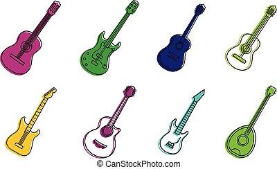 סיגנון, תאר, קבע, צבע של גיטרה, איקון