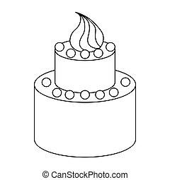 סיגנון, תאר, שני, נדבך, עוגה של יום ההולדת, איקון