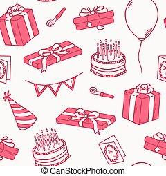 סיגנון, תאר, תבנית, seamless, מפלגה של יום ההולדת