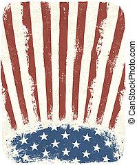 סיגנון, eps10, פוסטר, רקע., אמריקאי, וקטור, בציר, פטריוטי, דפוסית