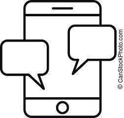 סיגנון, smartphone, התמכרות, תאר, איקון