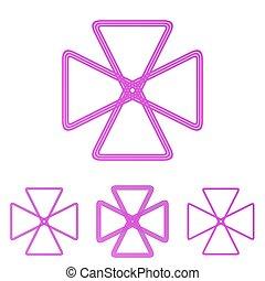 סידרה מעצבת, לוגו, אדום-ארגמן, קו, ענוב